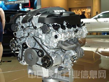 v型8缸发动机 玛莎拉蒂在底特律车展首次公开第6代 总裁高清图片