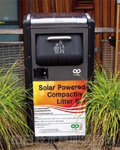 太阳能垃圾桶亮相纽约