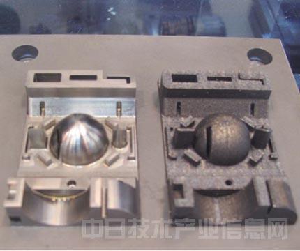 图9:松浦机械制作所展示的模具加工样品-树脂 纸张 金属,3D打印机图片