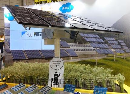 图2●fujipream的跟踪式太阳能发电系统(撮影:日经bp)
