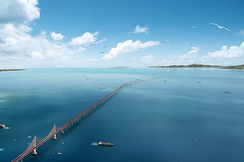 港珠澳大桥2016年建成 珠海到香港半小时车程