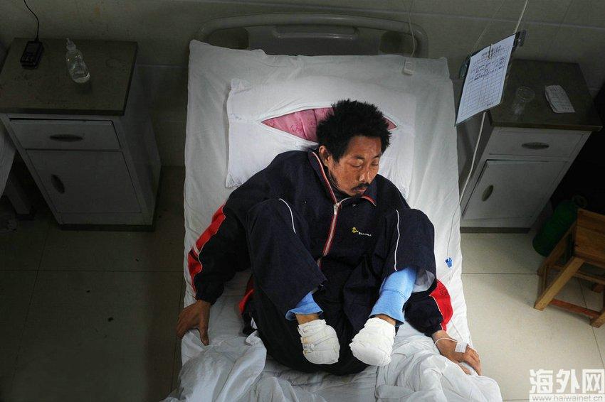 安徽定远:没钱看病 男子自断双脚组图 财经