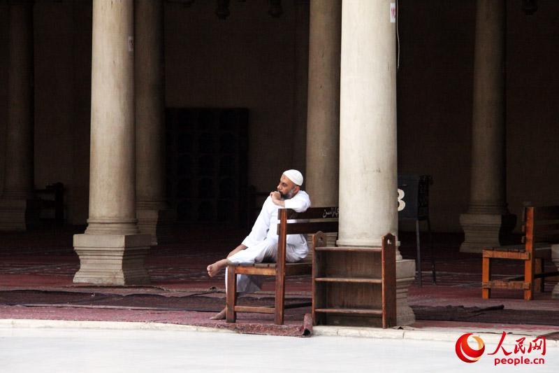 清真寺里的信众