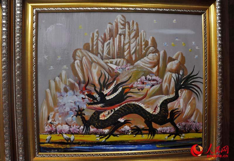 塔吉克斯坦著名画家库尔巴诺夫作品中的中国元素