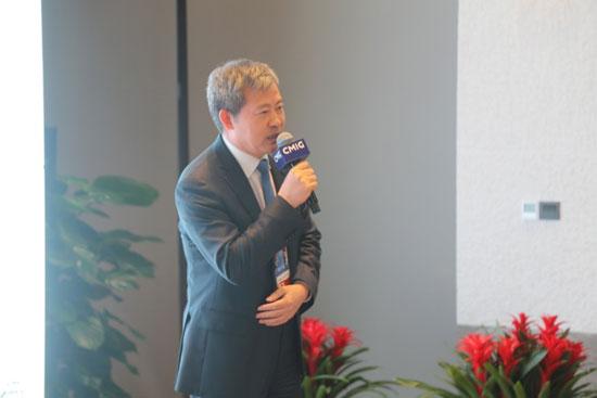 中国民生投资股份有限公司总裁李怀珍(人民网记者 毛雷摄)