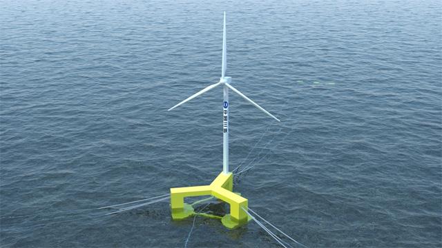 我國自主研發的首臺抗臺風型漂浮式海上風電機組在廣東陽江下線