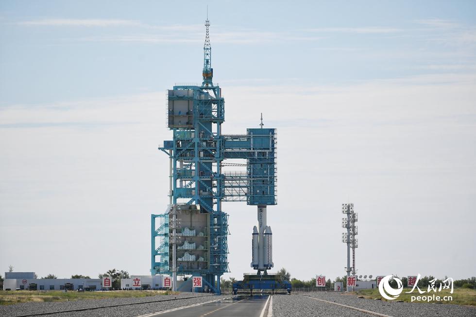 神舟十二号载人飞行任务发射现场。人民网记者 翁奇羽摄