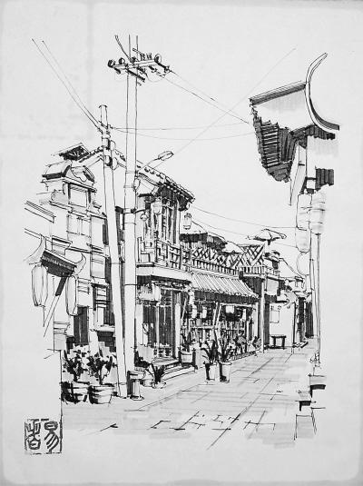 乡村风景画简笔画-北京5年内将疏散旧城人口20万