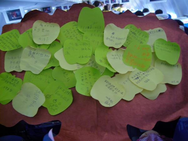 写下了羌族儿童美好的愿望-深航免费承运73名羌寨儿童返回家乡